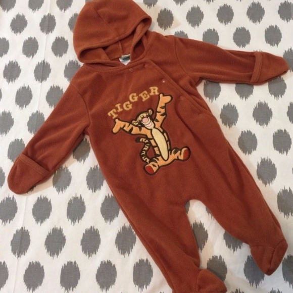 acb2311f8 Disney One Pieces | Tigger Infant Baby Snowsuit Fleece Coverall ...